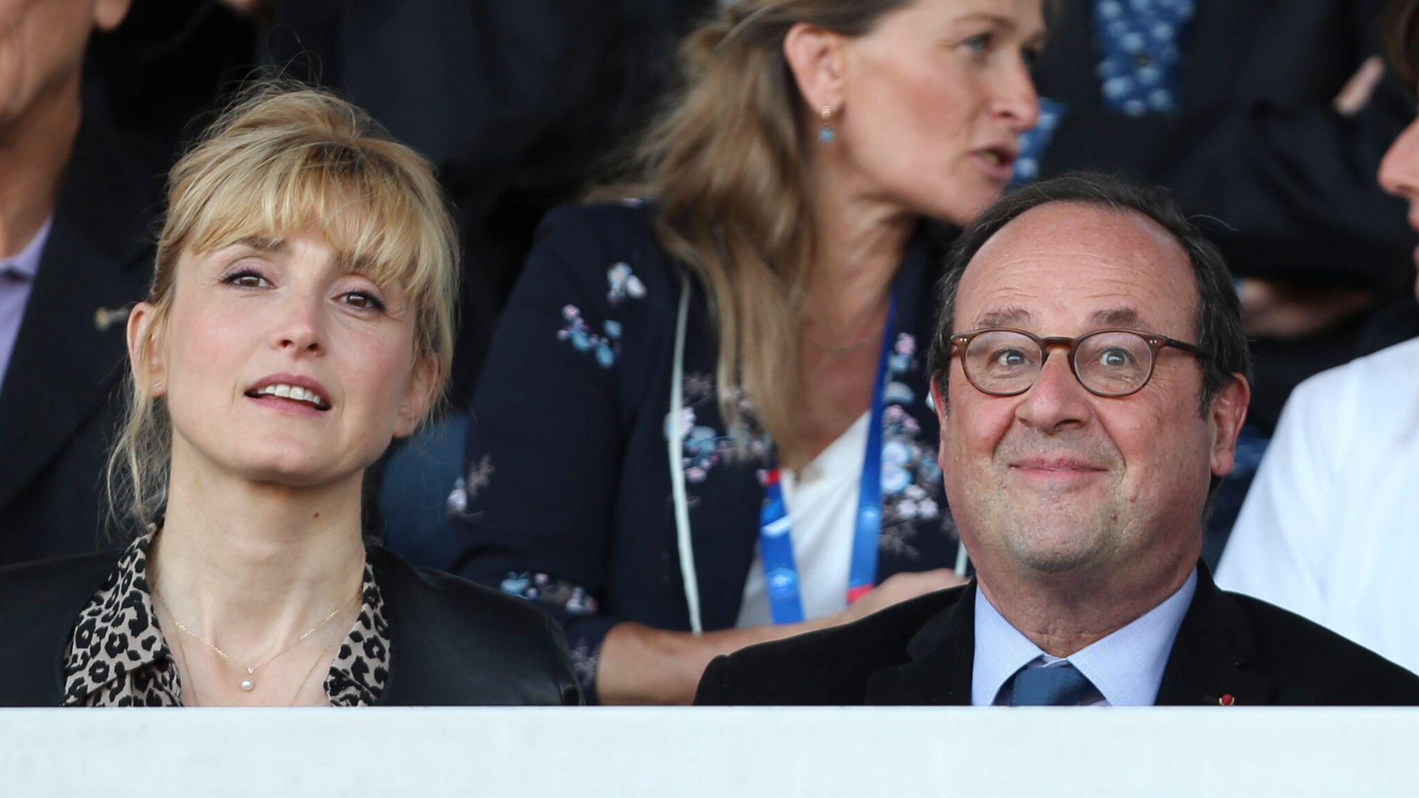 PHOTOS Julie Gayet concentrée, François Hollande dissipé : ils assistent au dernier match amical des Bleues