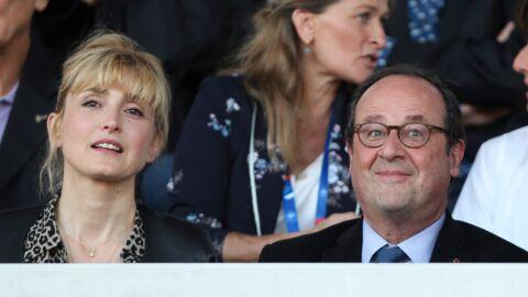PHOTOS Julie Gayet concentrée, François Hollande dissipé: ils assistent au dernier match amical des Bleues