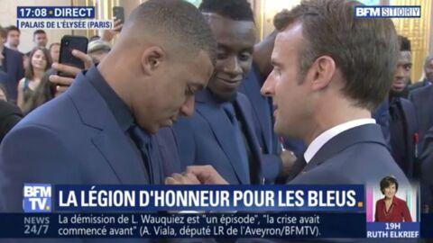 VIDEO Équipe de France: les Bleus décorés de la Légion d'honneur par Emmanuel Macron