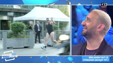 VIDÉO TPMP: Benjamin Castaldi défile presque nu devant TF1 et provoque l'hilarité de Cyril Hanouna