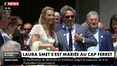 VIDEO Mariage de Laura Smet : la belle surprise des fans de Johnny Hallyday à la sortie de l'église