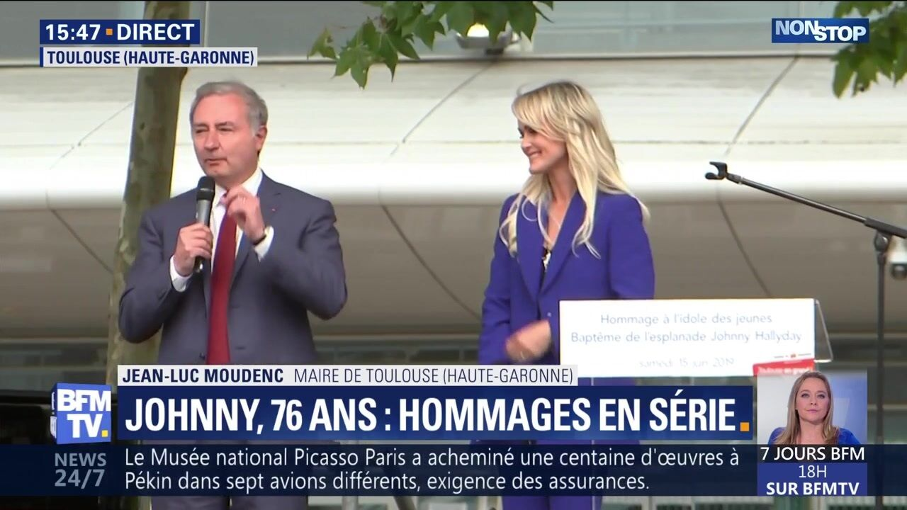 Hommage à Johnny Hallyday : la boulette du maire de Toulouse face à Laeticia