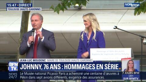 Hommage à Johnny Hallyday: la boulette du maire de Toulouse face à Laeticia