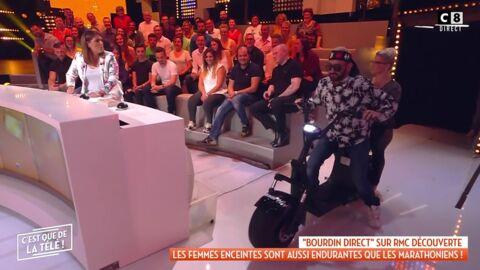 VIDEO Cyril Hanouna perturbe l'émission de Valérie Bénaïm en lui jetant des boules puantes