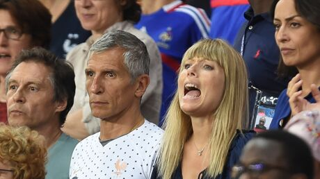 PHOTOS Mélanie Page et Nagui: le couple complice et sous tension au match de l'équipe de France