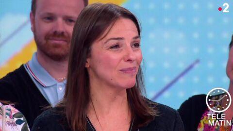 VIDEO Télématin: Sophie Le Saint bouleversée pour son dernier JT, son fils vient la réconforter