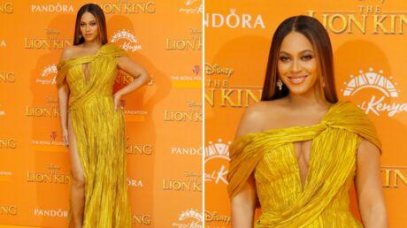 Beyoncé à l'avant première du Roi Lion: on veut son look gold!
