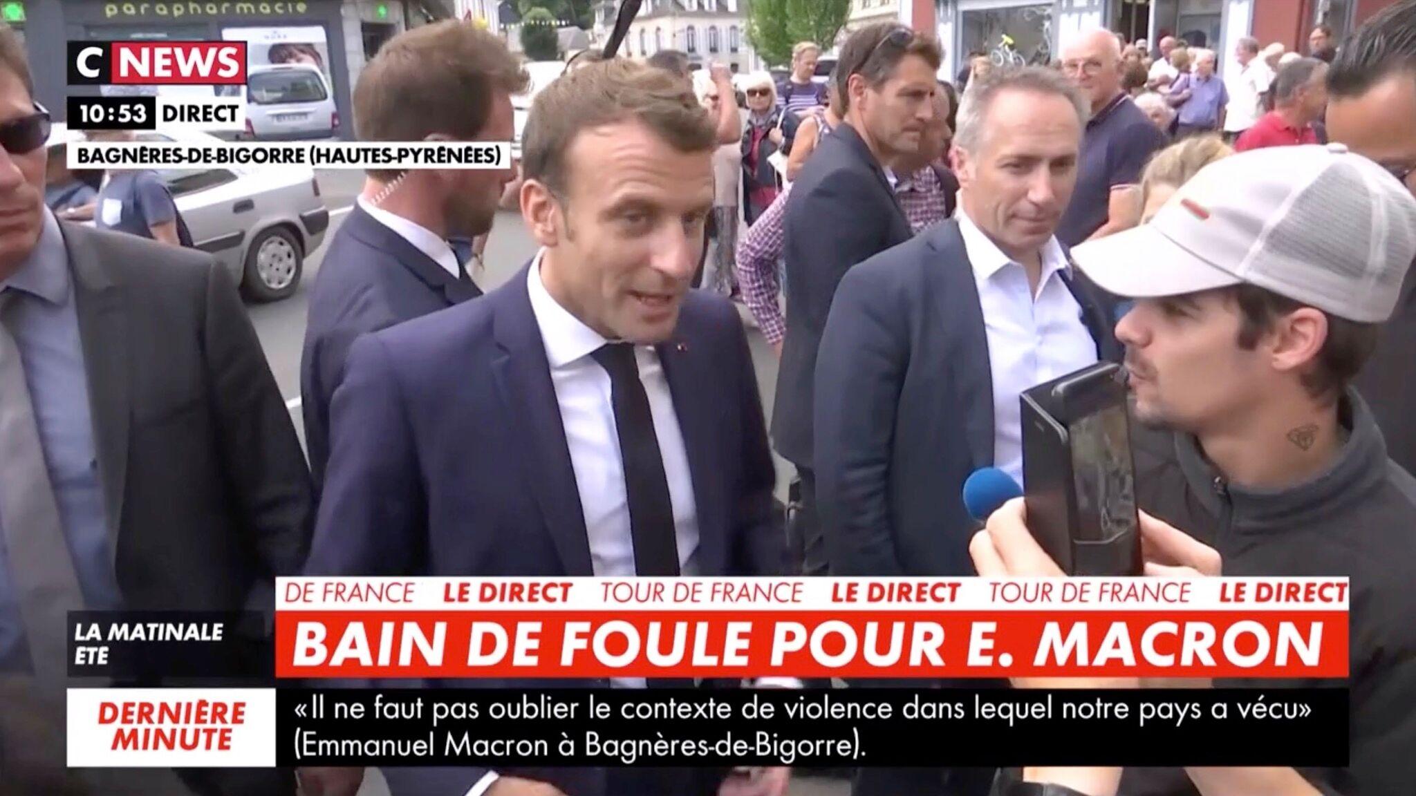 VIDEO Quand un homme demande OKLM à Emmanuel Macron de légaliser le cannabis
