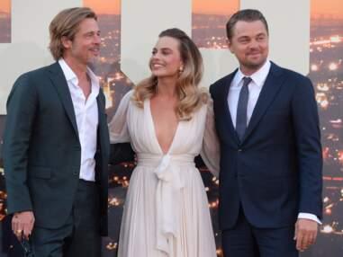 PHOTOS Brad Pitt, Leonardo Dicaprio et Margot Robbie : trio de charme sur tapis rouge