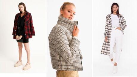 10 manteaux à carreaux à moins de 50 euros
