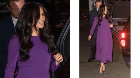 Meghan Markle: sa robe violette coûte moins de 50 euros!