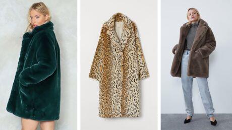 Tendance automne/hiver: 15 manteaux en fausse fourrure à moins de 100€