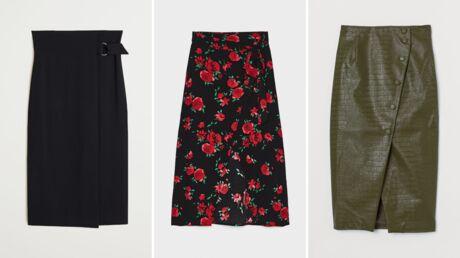 Comment porter la jupe portefeuille en hiver?