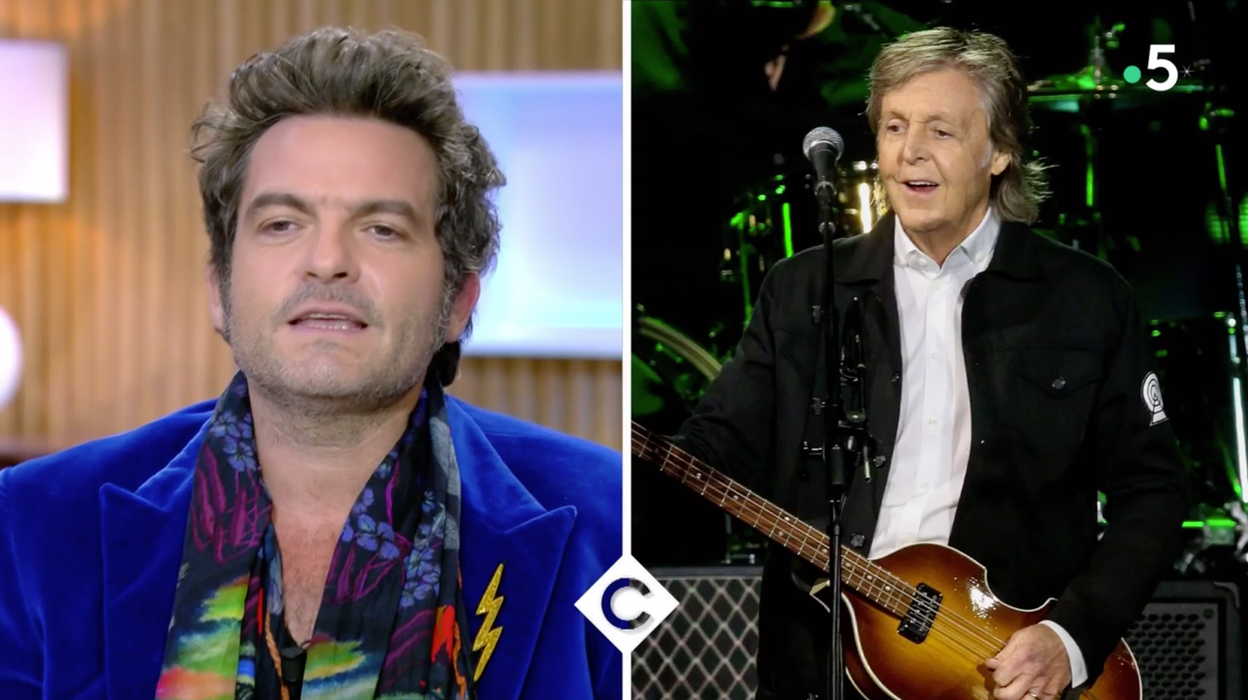 VIDEO C à vous : Matthieu Chedid raconte son incroyable rencontre avec Paul McCartney