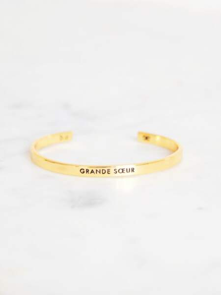 Jonc doré grande soeur, Emoi Emoi x Bangle Up, 40€