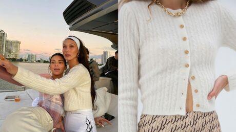 Bella Hadid: son cardigan vient d'une marque française que l'on adore