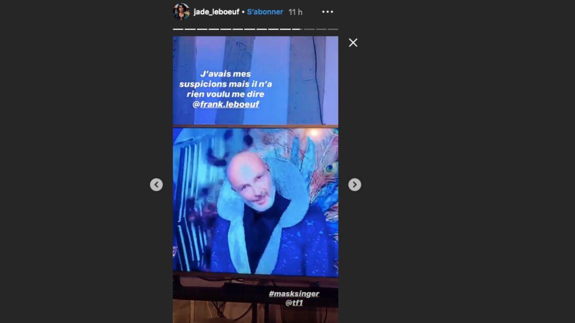 Mask Singer : la réaction de Jade Leboeuf quand elle a découvert son père sous le masque du Paon