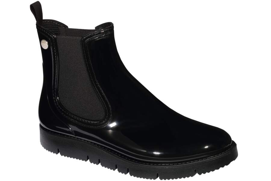 Bottines noires brillantes Eve, Scholl en pharmacies et parapharmarcies, 59,99€