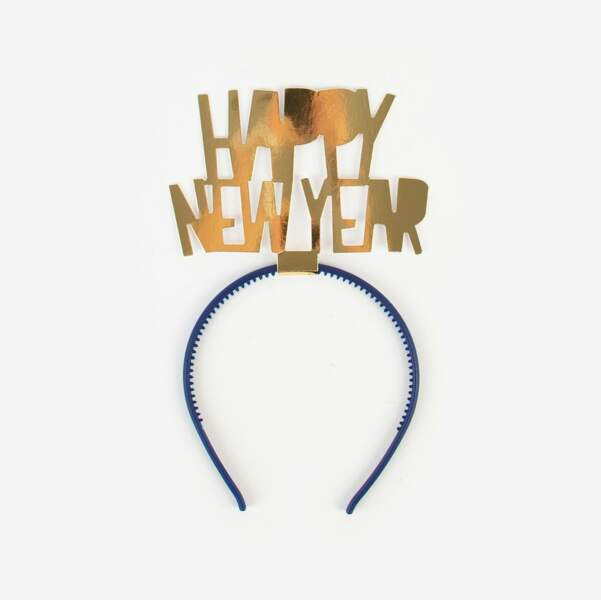 Serre-tête Happy New Year, My Little day, 2,60€