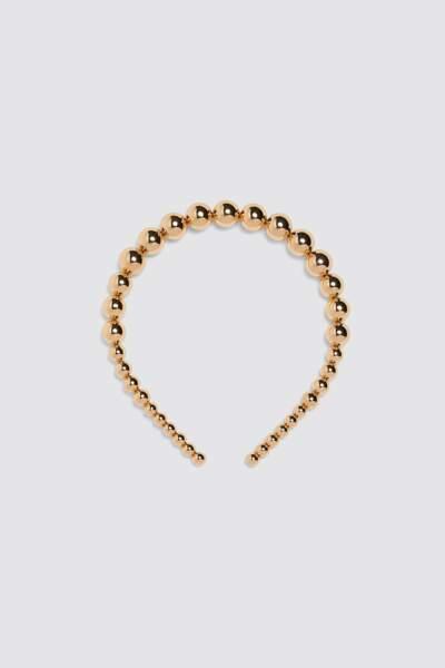 Serre-tête doré, Zara, 9,95€