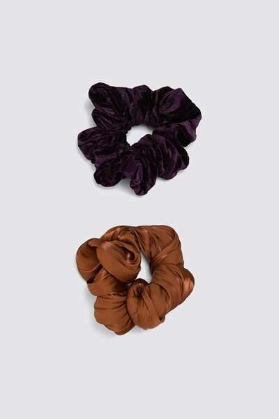 Lot de chouchous en organza et en velours, Zara, 9,95€