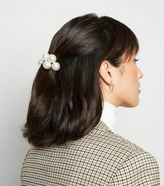 Elastique écru à effet perles, New Look, 4,99€