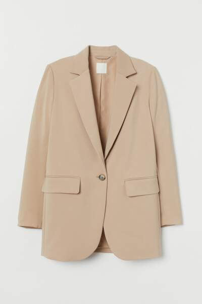Blazer droit beige, H&M, 39,99€