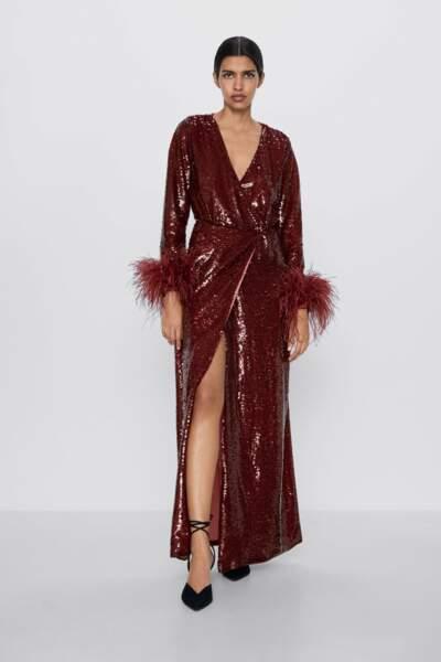 Robe à paillettes édition limitée, Zara, 149 €