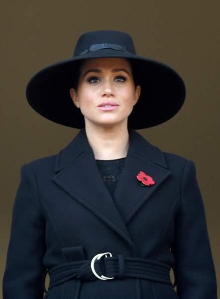 """Le chapeau qu'elle portait pour le """"Remembrance Sunday memorial"""""""
