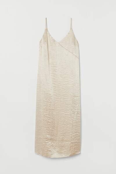 Robe combinaison en satin, H&M, 9,99€ au lieu de 19,99€