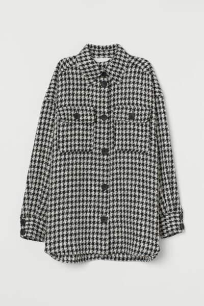 Chemise tissée jacquard, H&M, 29,99€ au lieu de 39,99€