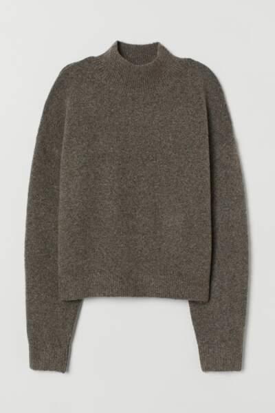 Pull à col semi-montant, H&M, 14,99€au lieu de 24,99€