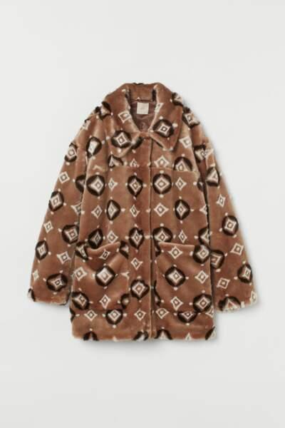 Veste à motifs, H&M, 19,99€ au lieu de 69,99€
