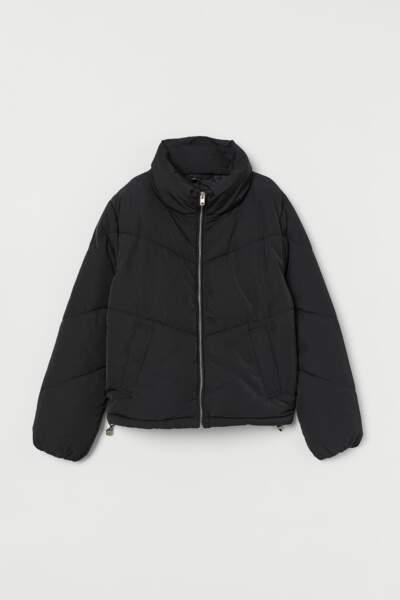 Doudoune noire, H&M, 24,99€ au lieu de 39,99€