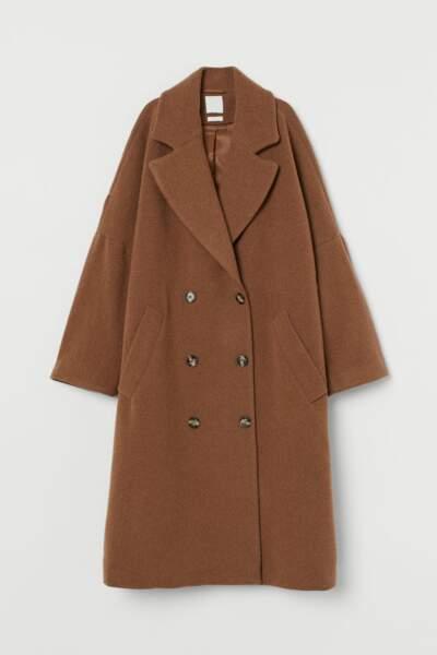 Manteau à double boutonnage, H&M, 89,99€ au lieu de 129€