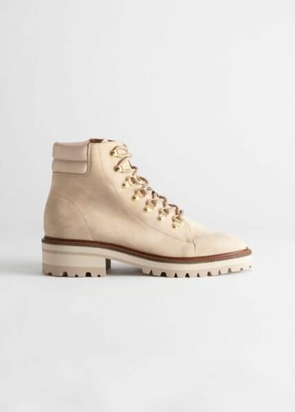 Boots semelle crantée, And Other Stories, 74€au lieu de 149€