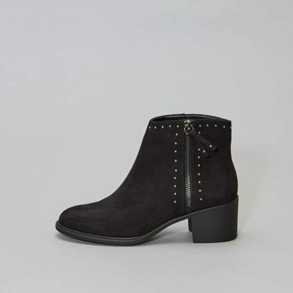 Boots cloutées, Kiabi, 7,50€au lieu de 25€