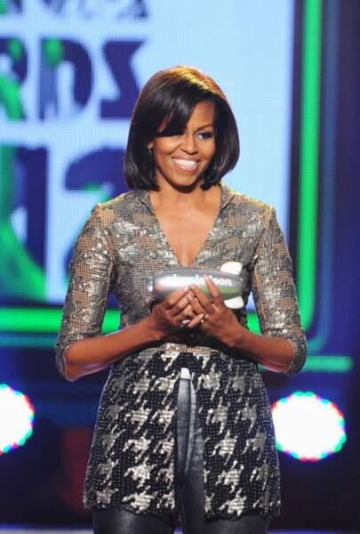 Michelle Obama, encore et toujours avec des paillettes
