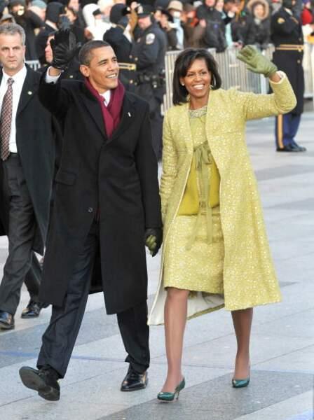 Michelle Obama déjà adepte des paillettes en 2009
