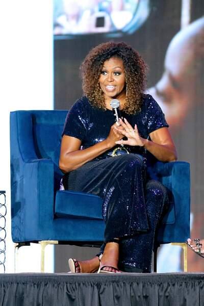 Michelle Obama et sa combinaison à paillettes