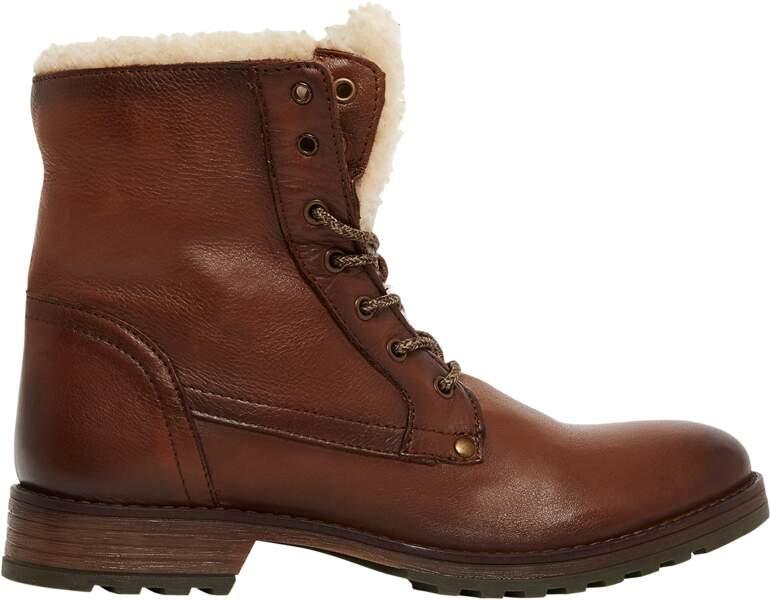 Boots, en cuir, San Marina 129 €