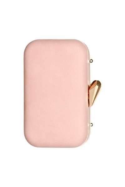 Minaudière rose pâle avec chaîne dorée, C&A, 19,90 €