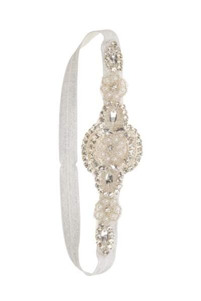 Headband brodé de perles et de strass, C&A, 5,90 €
