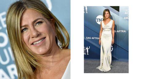 Jennifer Aniston: rayonnante dans sa robe en satin lors des SAG Awards