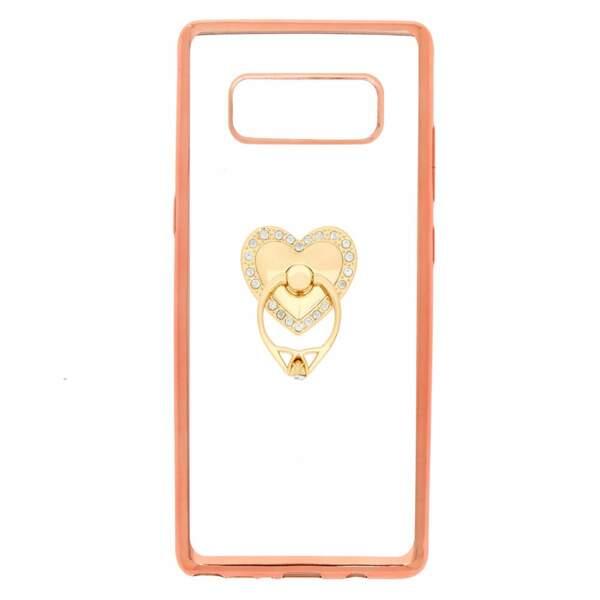 Coque de portable avec anneau de support cœur. Compatible avec Samsung Galaxy Note 8, Claire's, 12,99 €