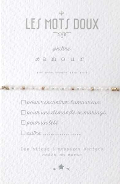 Bracelet Philtre d'Amour, Les Mots Doux, 29 €
