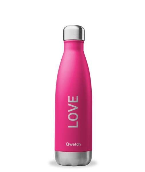 Bouteille isotherme nomade en inox. Qwetch, 24 € les 500 ml