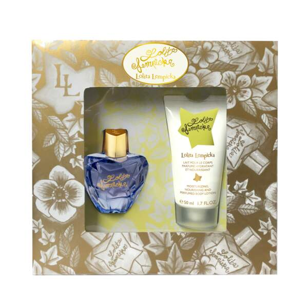 Coffret parfum et lait pour le corps. Lolita Lempicka, 57 €