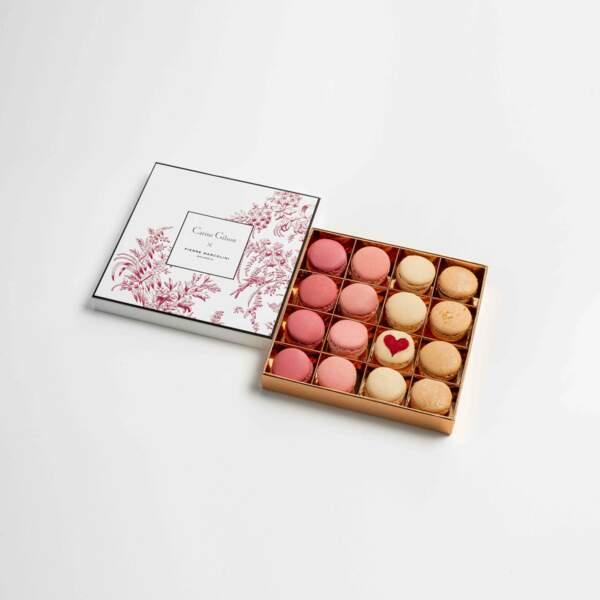Coffret macarons as de coeur. Pierre Marcolini, 36 €