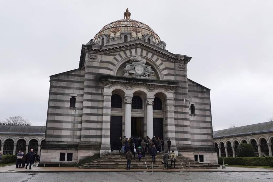 Obsèques de Sébastien Demorand au crématorium du Père Lachaise, à Paris, le 31 janvier 2020